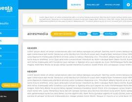 Nro 11 kilpailuun Design a web application layout mockup - only one page - first of many projects käyttäjältä Sofmynd