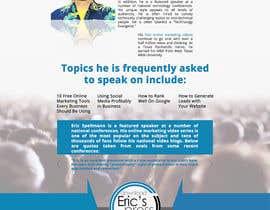 Nro 11 kilpailuun Website design for public speaker käyttäjältä oobqoo