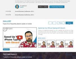 Nro 23 kilpailuun Website design for public speaker käyttäjältä doomshellsl