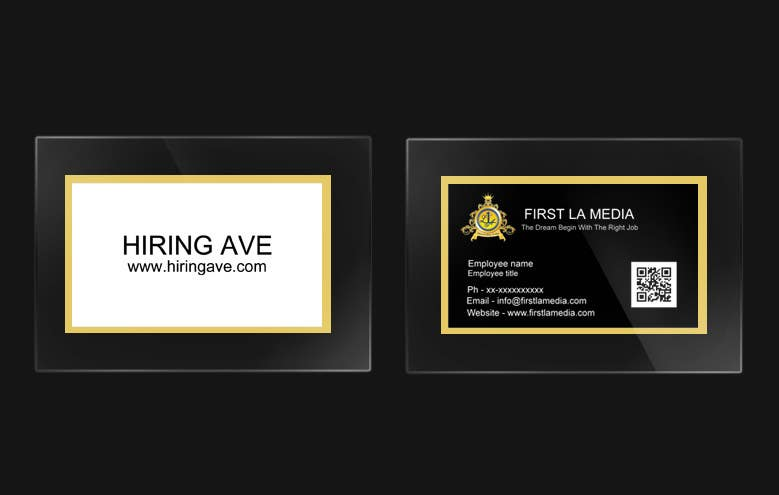 #26 for Design some Business Cards and get hire for more tasks ! by Ankur0312