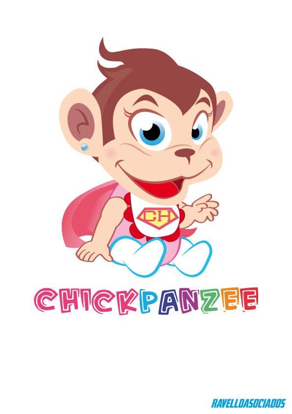 Penyertaan Peraduan #77 untuk Cute Monkey Design
