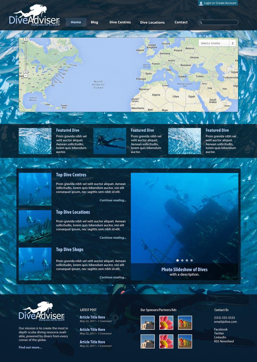 Konkurrenceindlæg #27 for Design a Wordpress Mockup for Dive Adviser