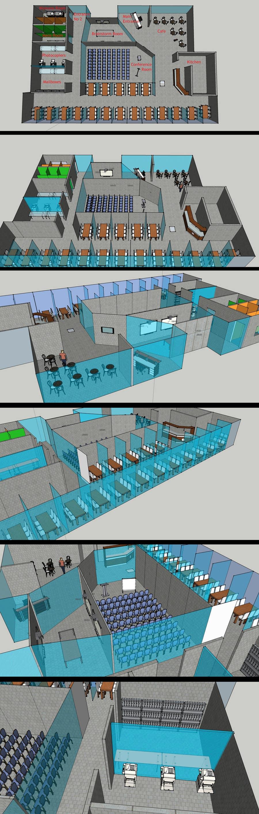 Penyertaan Peraduan #13 untuk Architectural Floorplan Layout for PolarPointe Business Cafe