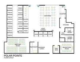 #10 para Architectural Floorplan Layout for PolarPointe Business Cafe por rainy14dec