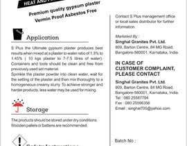 akshar987 tarafından S Plus Gypsum Bag Design ( Front and Back) için no 5