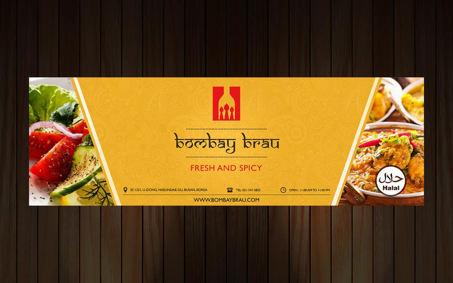 Design a banner for indian restaurant freelancer