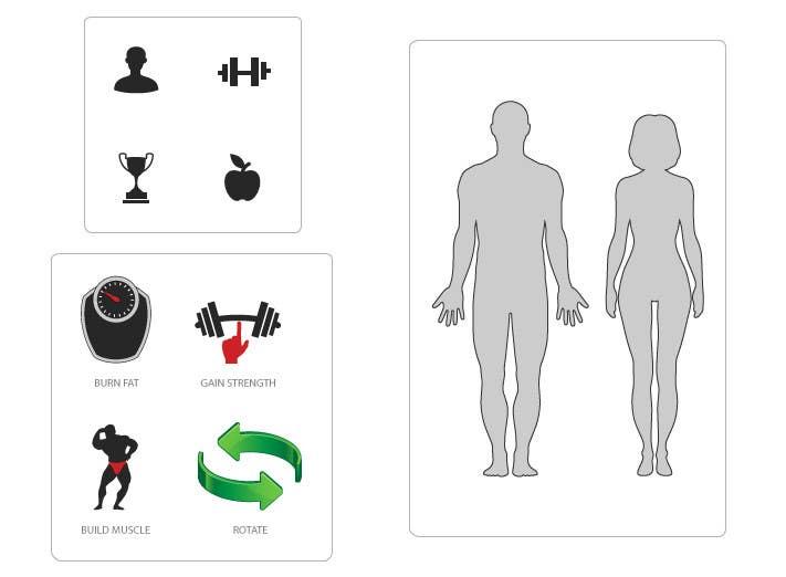 Penyertaan Peraduan #1 untuk Design some Icons for a fitness app - repost