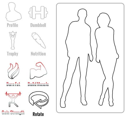Penyertaan Peraduan #9 untuk Design some Icons for a fitness app - repost