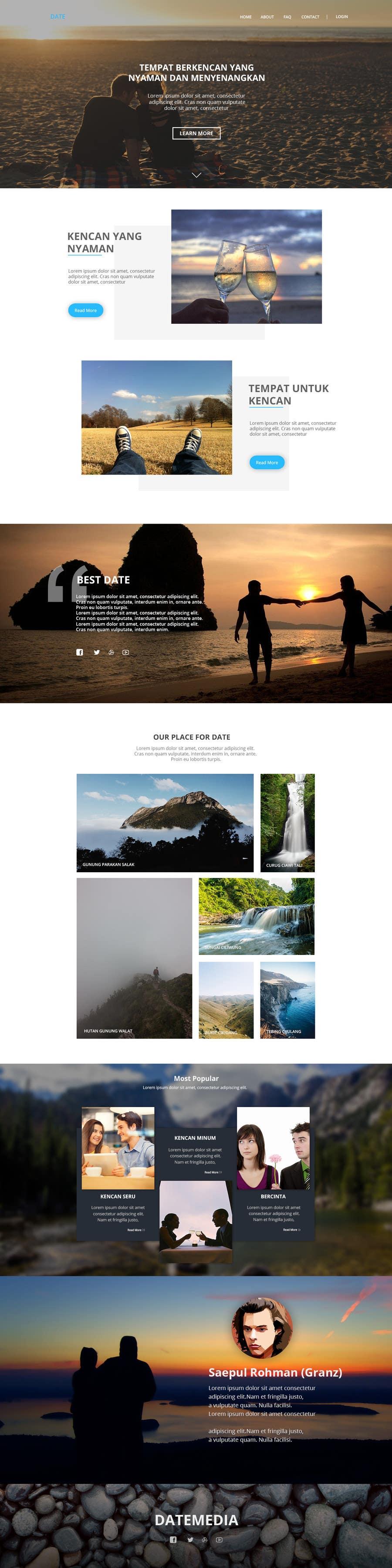 Kilpailutyö #8 kilpailussa Design a Website Mockup