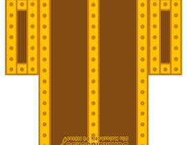 Nro 7 kilpailuun Design a cardboard box to look like a treasure chest. käyttäjältä eeyamms