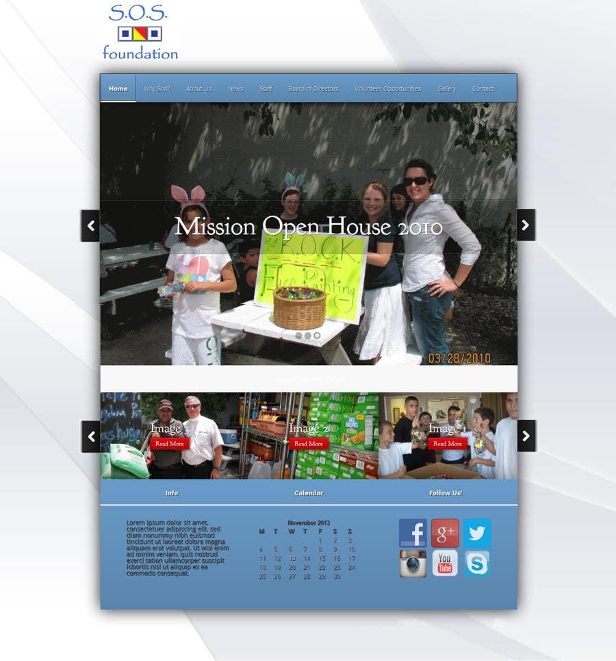 Penyertaan Peraduan #3 untuk Design a Website Mockup for fast growing nonprofit food pantry