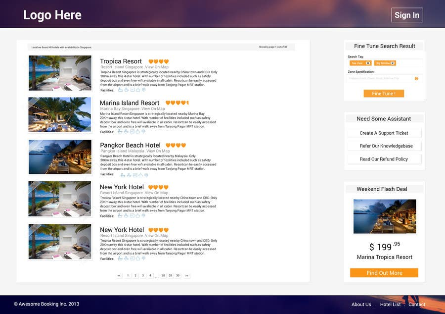 Contest Entry #15 for Hotel booking website mockup