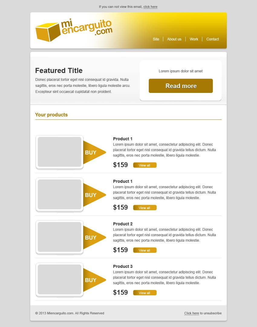 #11 for Email Flyer HTML by gravitygraphics7