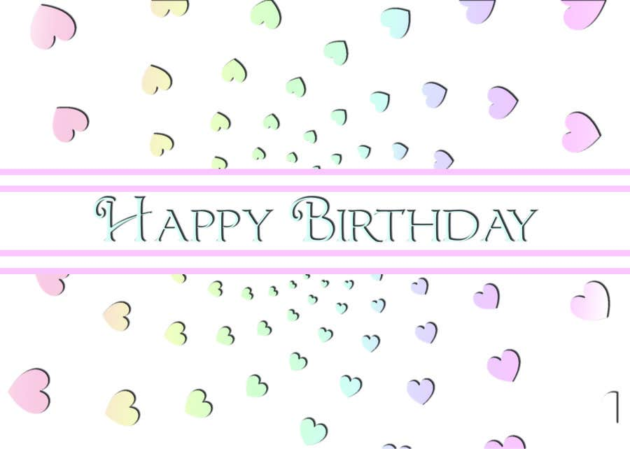 #23 for Design some Stationery for Adult Birthday card by LLInnovations