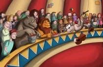 Illustration Design for Childrens Book - Circus Scene için Graphic Design20 No.lu Yarışma Girdisi