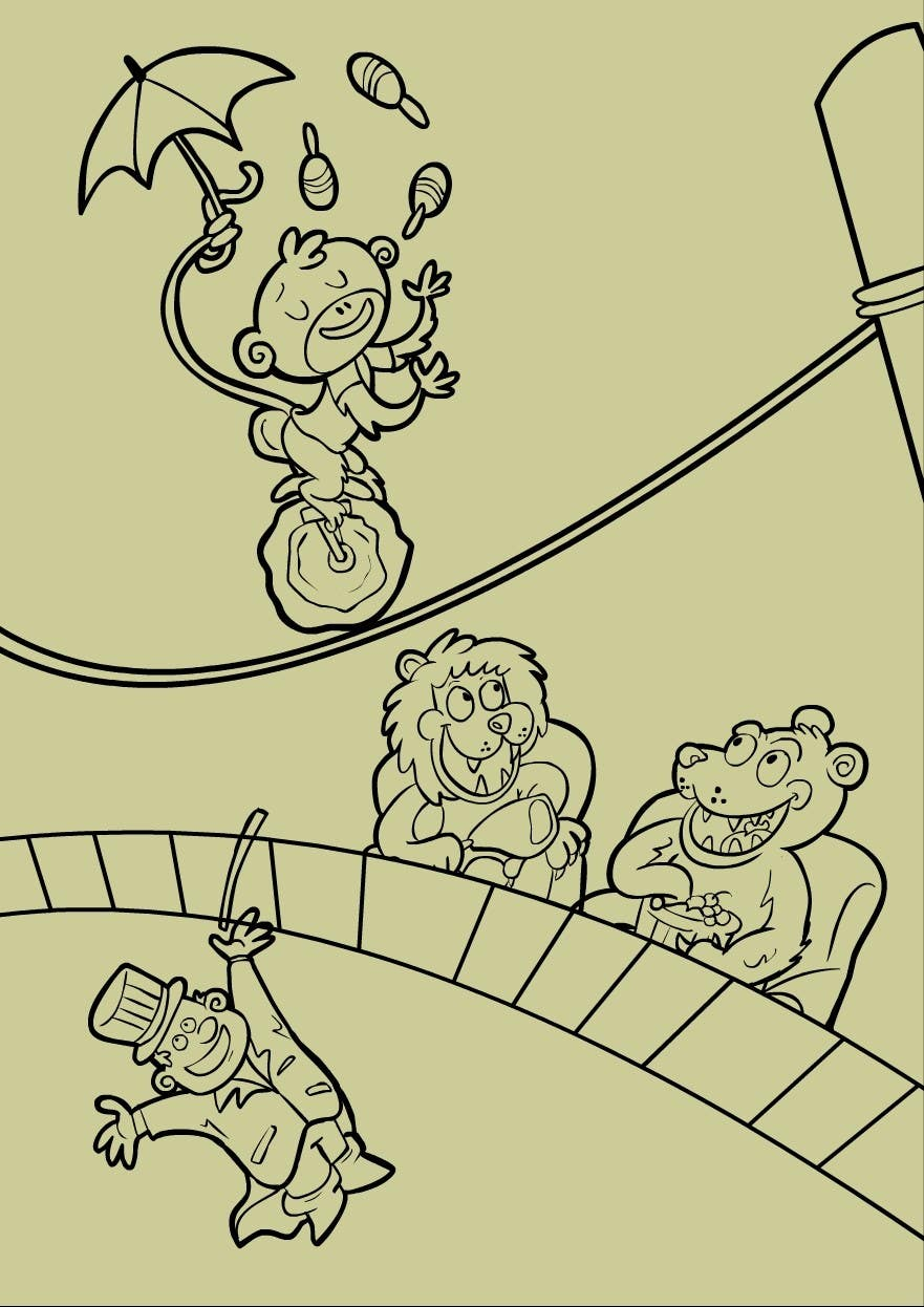 Contest Entry #                                        3                                      for                                         Illustration Design for Childrens Book - Circus Scene