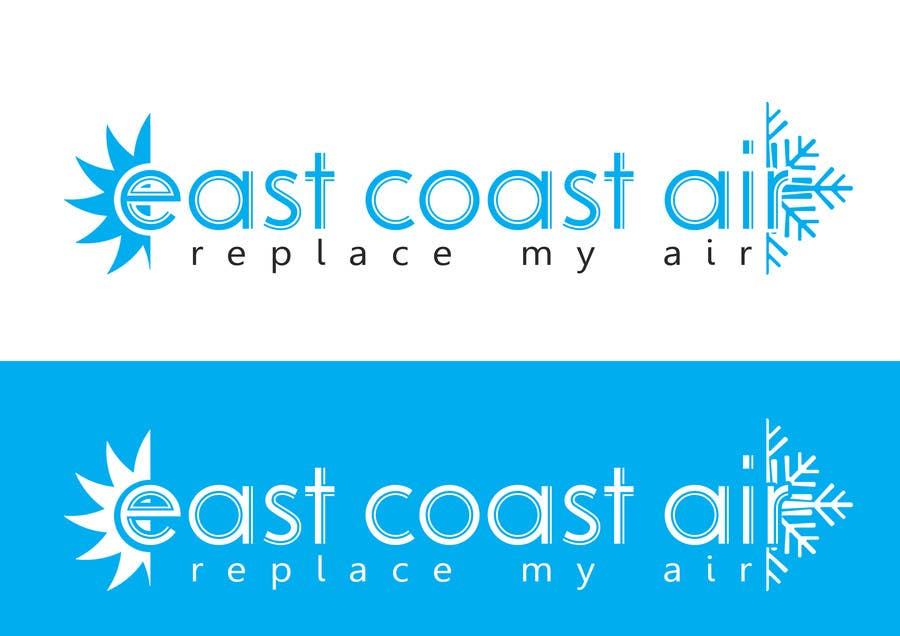Kilpailutyö #565 kilpailussa Design a Logo for East Coast Air conditioning & refrigeratiom