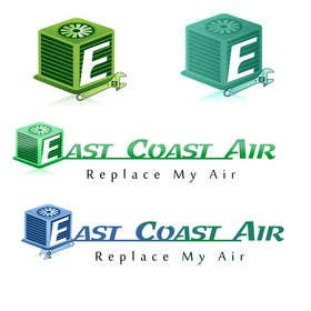 #222 for Design a Logo for East Coast Air conditioning & refrigeratiom by tobagganski343