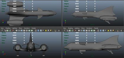 #7 for Do some 3D Modelling for Heavy Star Fighter by pir9008