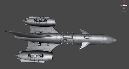 #5 for Do some 3D Modelling for Heavy Star Fighter by Hedgecog