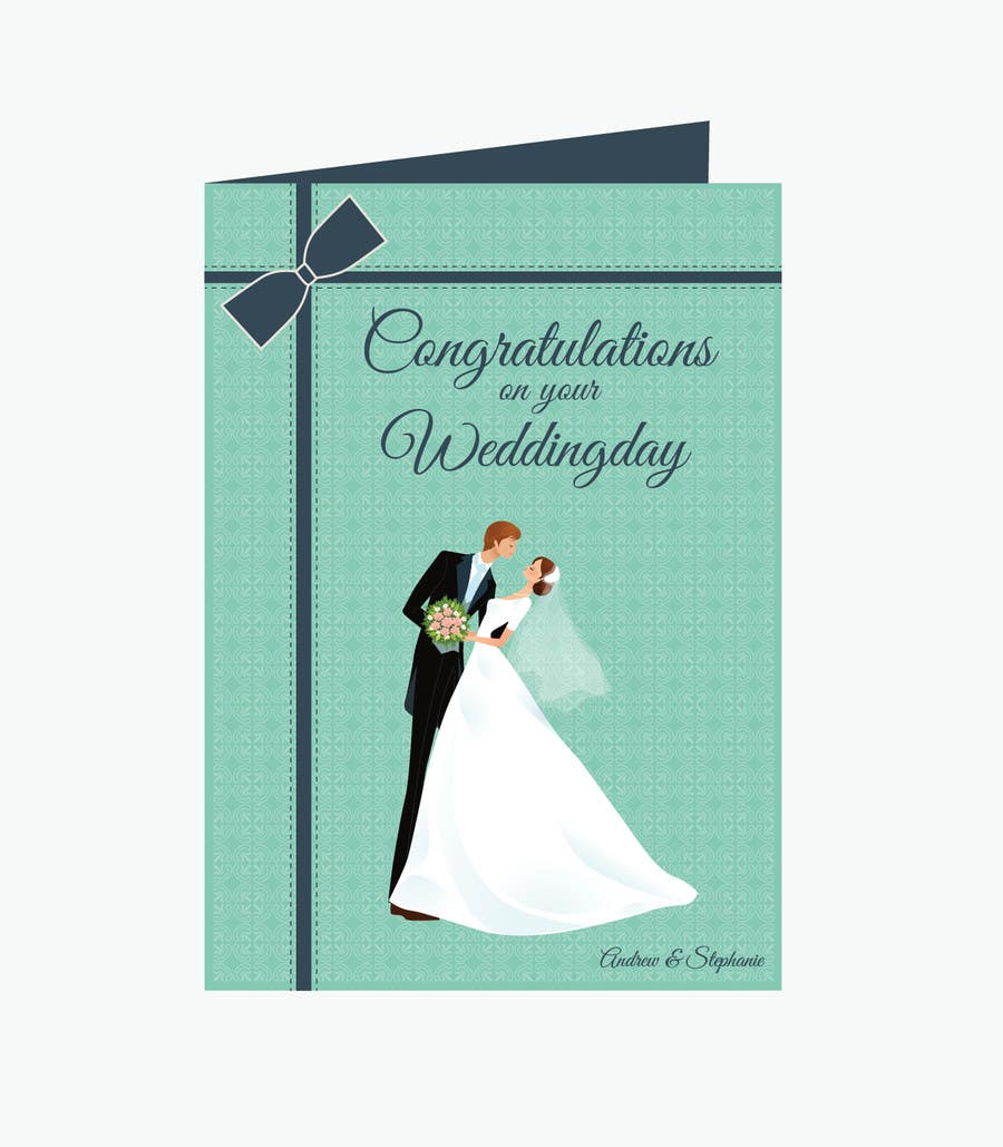 #30 for Design some Stationery for a Wedding Congratulations Card by pankaj86