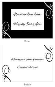 #37 for Design some Stationery for a Wedding Congratulations Card by LLInnovations