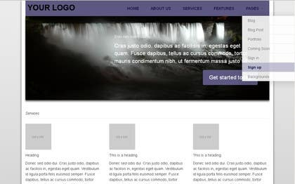 #4 for Design of one HTML page based on Bootstrap 3 by abhij33td3sai