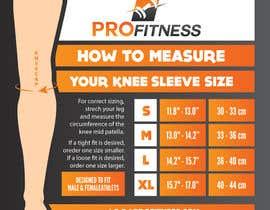 Nro 11 kilpailuun Design a Knee Sleeve Size Chart käyttäjältä MagdalenaJan