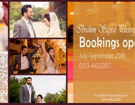 PeachGirl124 tarafından Design a Banner/Cover Photo for a Wedding-Photography Facebook Page için no 62