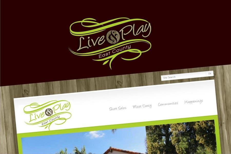 Konkurrenceindlæg #                                        89                                      for                                         Live and Play East County           / logo design for website