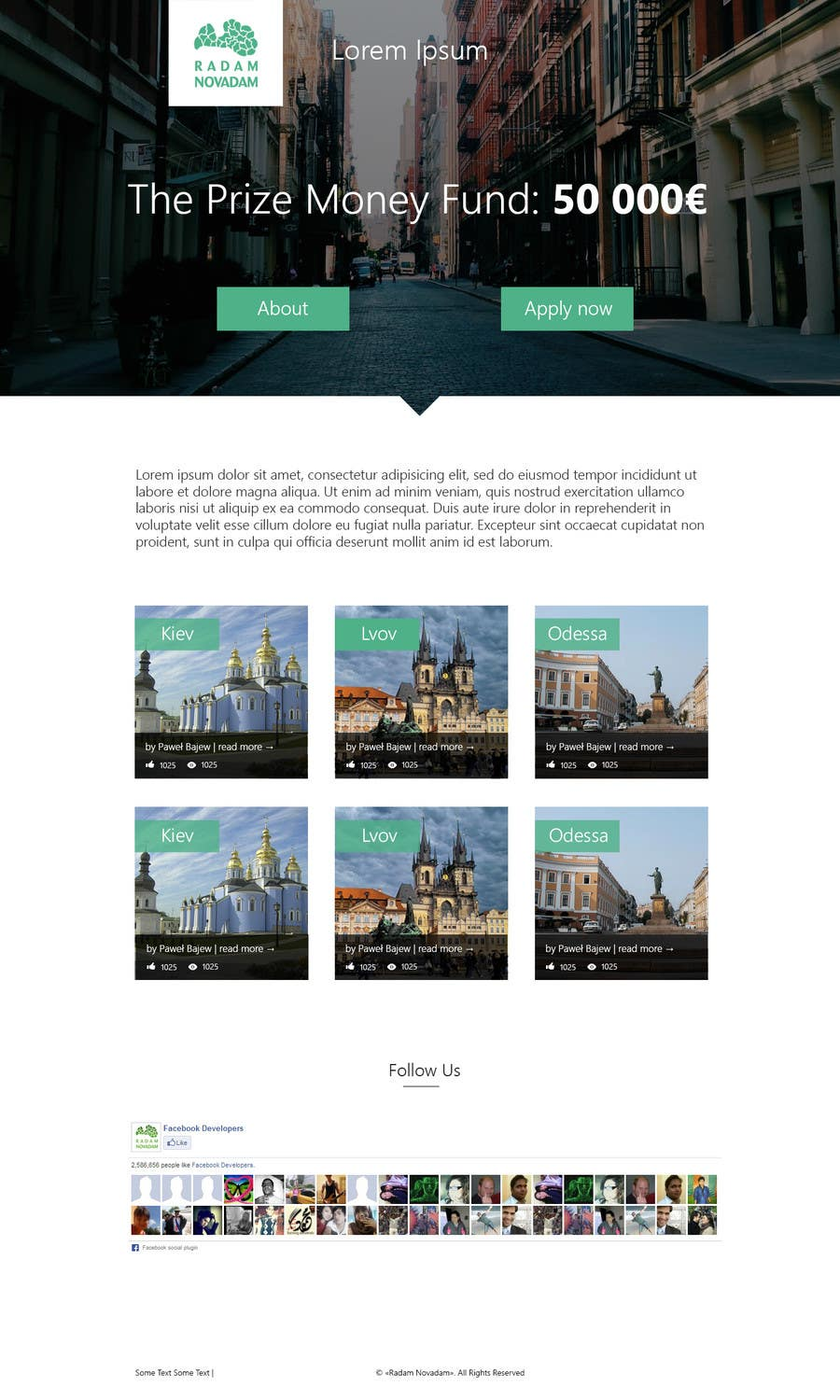 #5 for Design for website front page by firstmaster