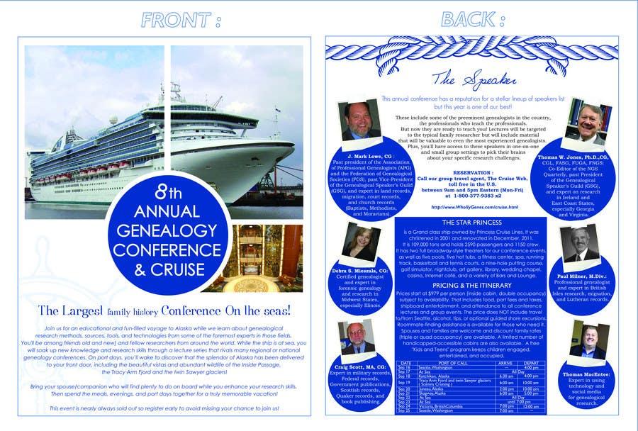 Inscrição nº 39 do Concurso para Brochure Design for Annual Conference and Cruise