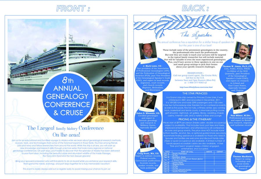 Bài tham dự cuộc thi #                                        21                                      cho                                         Brochure Design for Annual Conference and Cruise