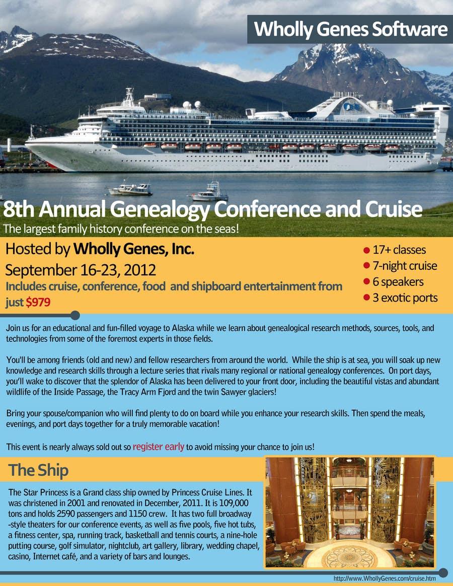 Inscrição nº 27 do Concurso para Brochure Design for Annual Conference and Cruise