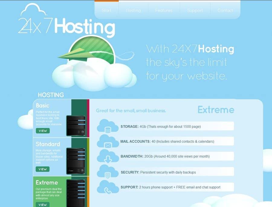 Konkurrenceindlæg #5 for Build a Website Mock up for a web hosting company