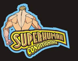 nº 26 pour Design a 'comic book style' Logo for: Superhuman Conditioning par artist4