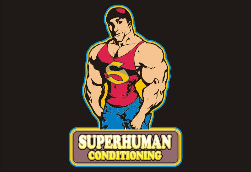 Penyertaan Peraduan #28 untuk Design a 'comic book style' Logo for: Superhuman Conditioning