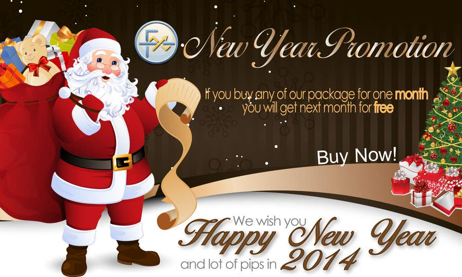 #66 for Design a Banner for New Year Promotion by victorianeyes