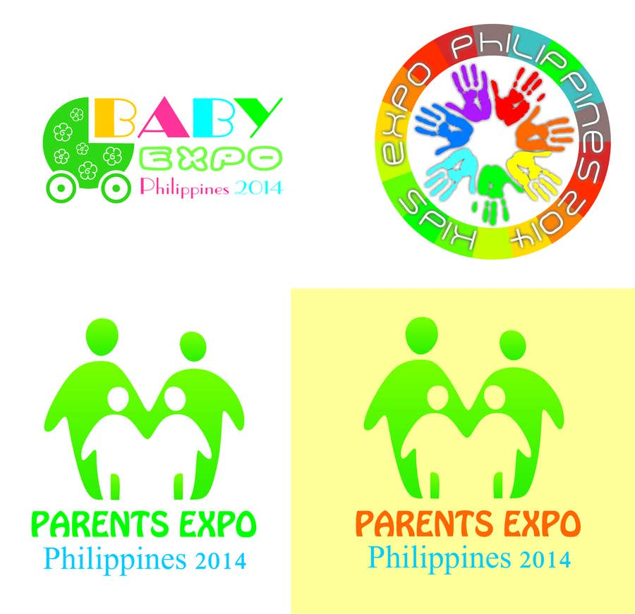 Inscrição nº 4 do Concurso para Design a Logo for Kids Expo, Parent Expo and Baby Expo Philippines 2014