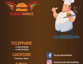 Nro 28 kilpailuun burger restaurant menu käyttäjältä aliyevart