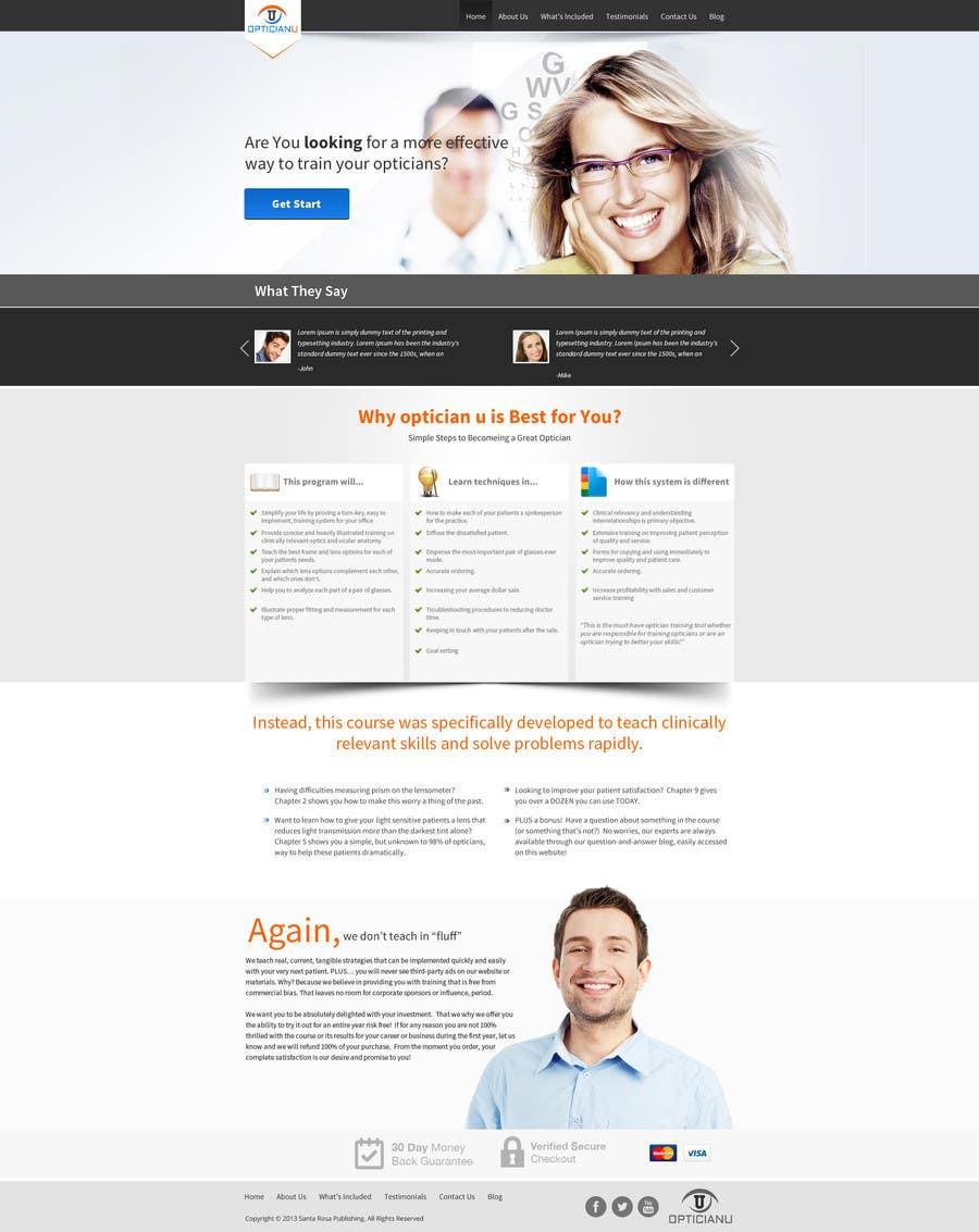 Penyertaan Peraduan #                                        3                                      untuk                                         Design a Website Mockup for www.OpticianTraining.com
