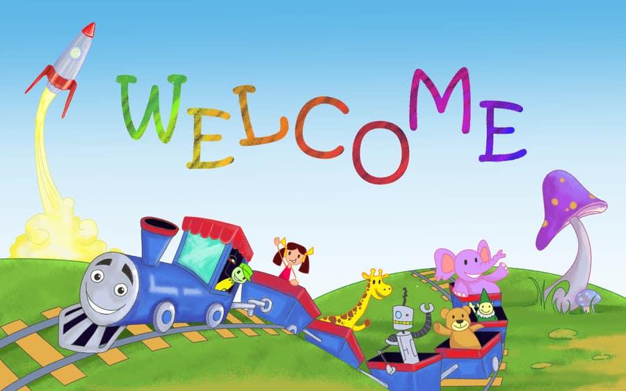 Penyertaan Peraduan #                                        31                                      untuk                                         Childbook author website homepage illustration