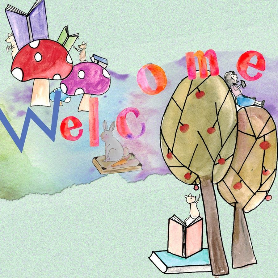 Penyertaan Peraduan #                                        42                                      untuk                                         Childbook author website homepage illustration