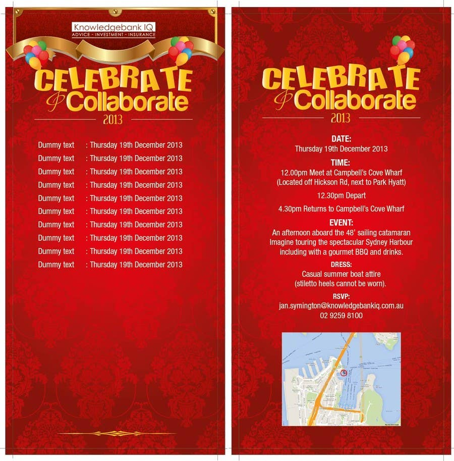 #5 for Design a DL Size invitation for End of Year Celebration by swethanagaraj