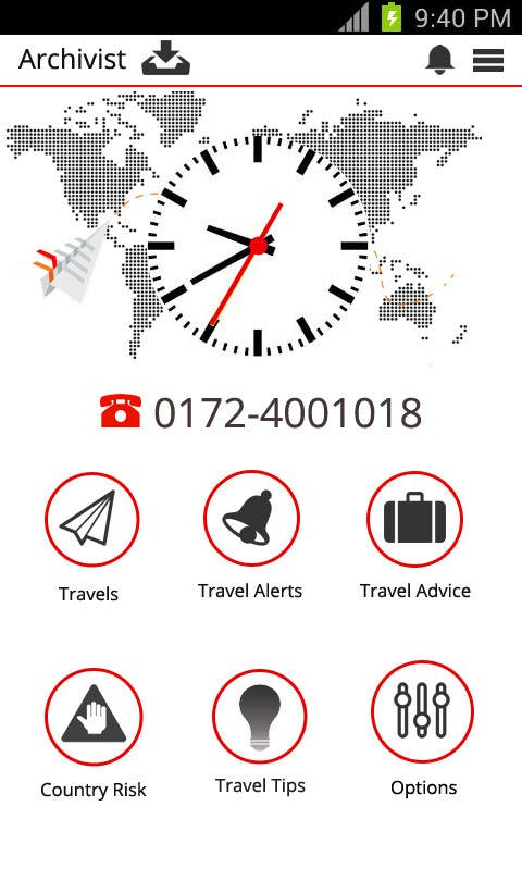 #16 for Design the main page for a travel security app by MagicalDesigner
