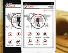 #38 cho Design the main page for a travel security app bởi MagicalDesigner