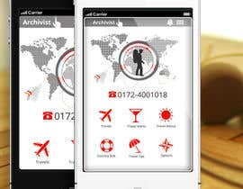 #42 cho Design the main page for a travel security app bởi MagicalDesigner