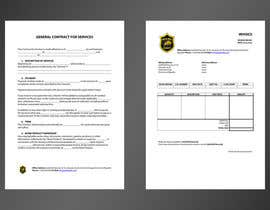 #3 for invoice and contract layout for security company af spenky