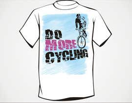 "#20 untuk Design a T-Shirt for ""Do More Cycling"" oleh artist4"