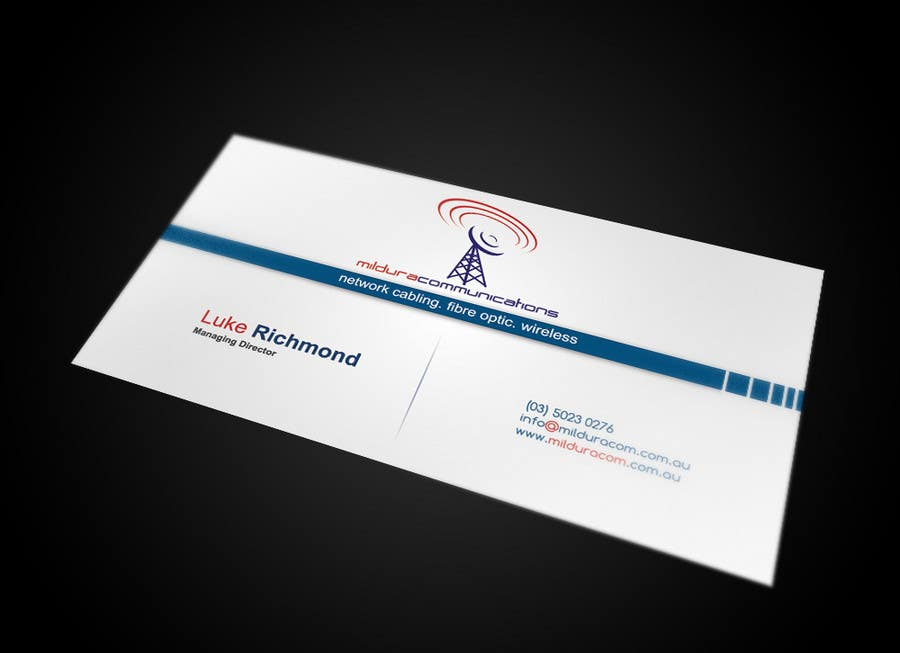 Конкурсная заявка №26 для Business Card Design for Mildura Communications